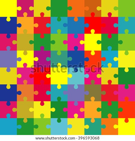 Puzzle With Split Complementary Colors