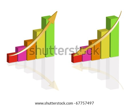 Pyramid Colorful graph templates isolated over a white background. - stock vector