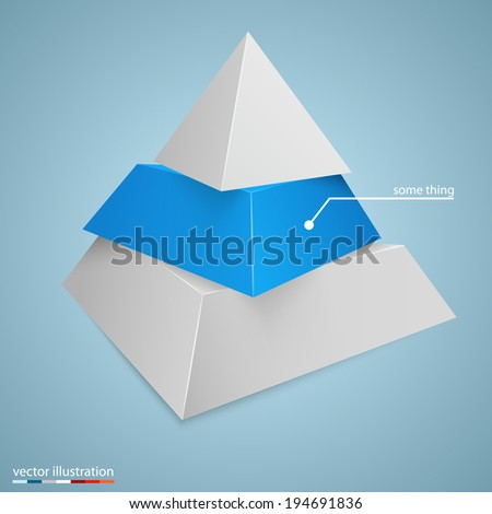 Pyramid icon for business concept background. Vector illustration. - stock vector