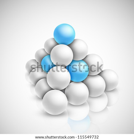 Pyramid of balls. Eps 10 - stock vector