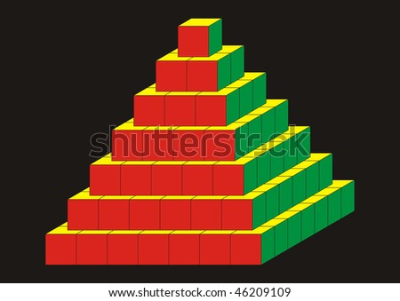 Pyramid of cubes
