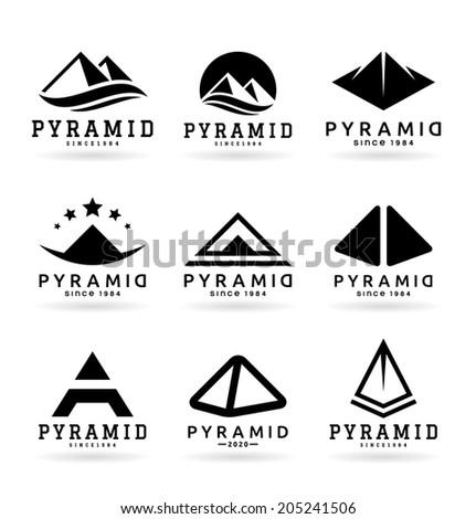 Pyramids (5) - stock vector