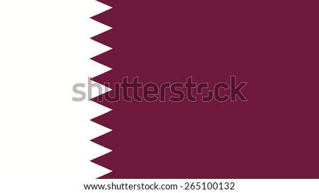 qatar  Flag for Independence Day and infographic Vector illustration. - stock vector