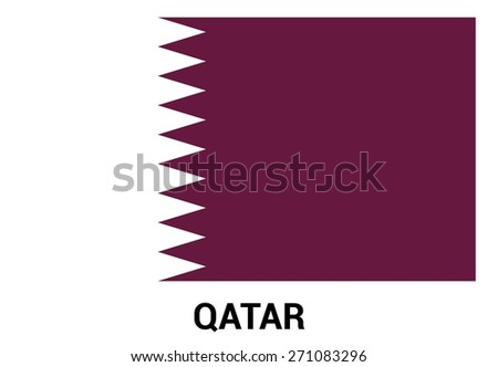 Qatar flag isolated vector in official colors and Proportion Correctly. country's name label in bottom - stock vector