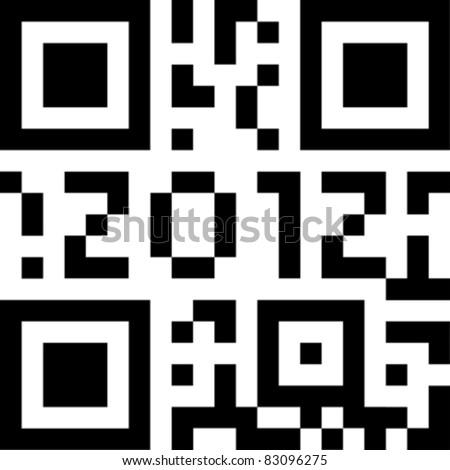 qr code 2012 eps10 - stock vector