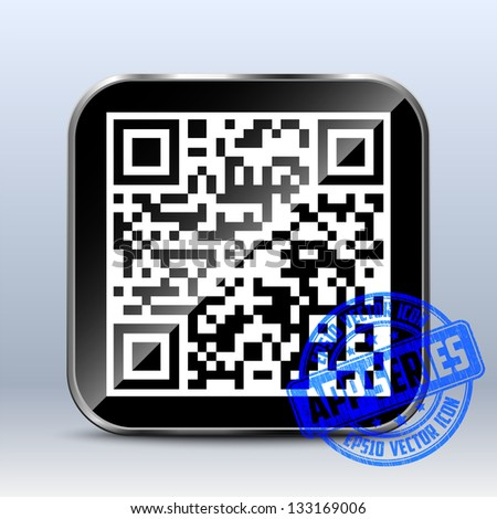 QR Code Icon. App Series - stock vector