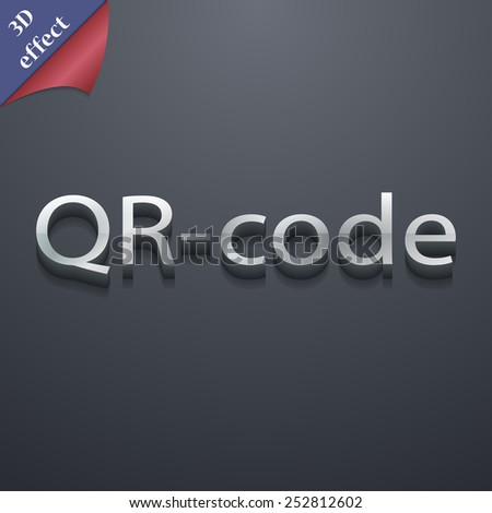 Qr code icon symbol. 3D style. Trendy, modern design with space for your text Vector illustration - stock vector