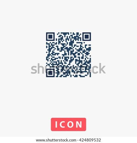 Qr code Icon Vector. Qr code Icon Logo. Qr code Icon Picture. Qr code Icon Image. Qr code Icon Graphic. Qr code Icon Art. Qr code Icon UI. Qr code Icon EPS. Qr code Icon AI. Qr code Icon Drawing - stock vector