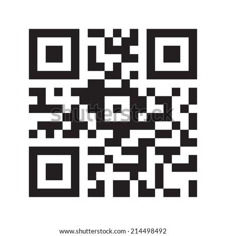 QR code (Quick Response Code). Vector illustration - stock vector