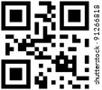 qr code with love word - stock photo