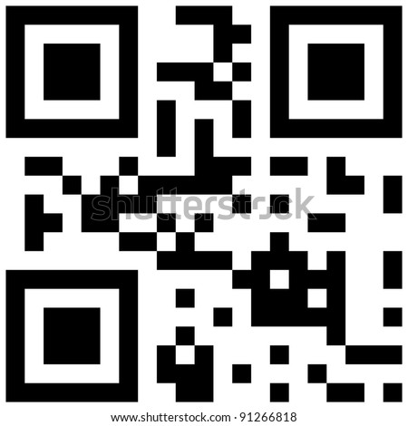 qr code with love word - stock vector