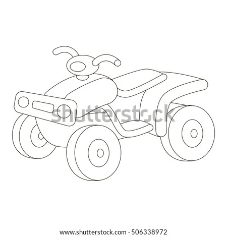 Quad Bike To Be Colored Coloring Book Educate Preschool Kids With Easy Kid Educational