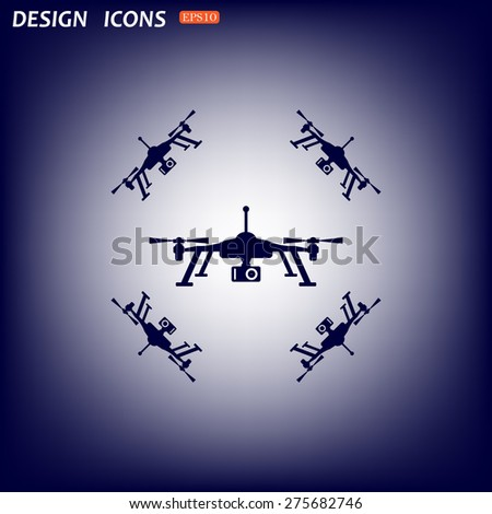Quadrocopter. icon. vector design