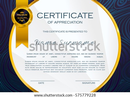 Qualification certificate appreciation design elegant luxury stock qualification certificate of appreciation design elegant luxury and modern pattern best quality award template yadclub Image collections