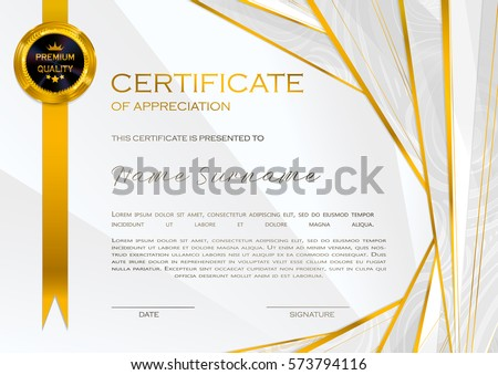 Qualification certificate appreciation design elegant luxury stock qualification certificate of appreciation female design with halftone elegant luxury and modern pattern yelopaper Images