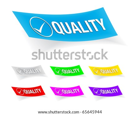 quality check-mark,stickers
