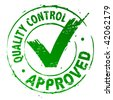 Quality Control Approved - stock photo