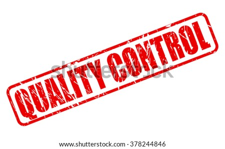 Quality control red stamp text on white - stock vector