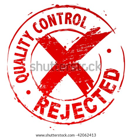 Quality Control Rejected - stock vector