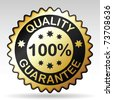 Quality guarantee label, vector EPS version 8 - stock photo