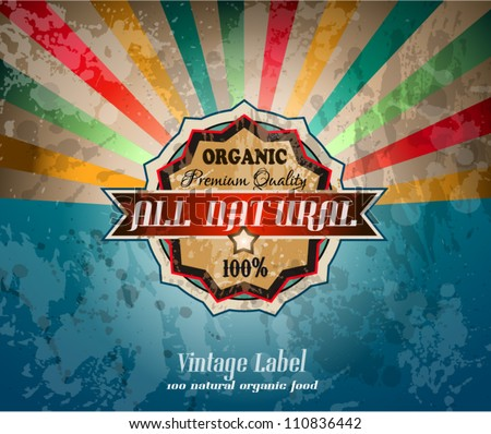 Quality vintage label for premium Restaurant with old fashined and distressed style. - stock vector