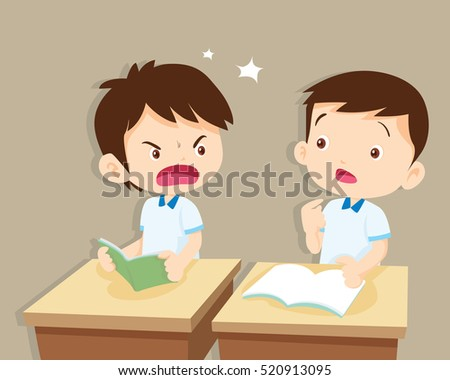 Clip Art Kid Yelling At Other Kid