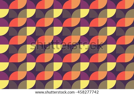 Quarter circle pattern background. Seamless vector pattern. Geometric shape vector.