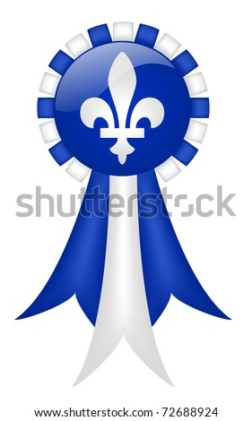 Quebec Ribbon (with gradient mesh) - stock vector