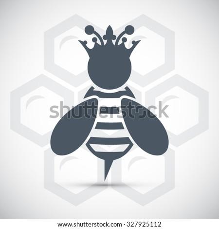 Queen Bee Logo ... emblem crow...