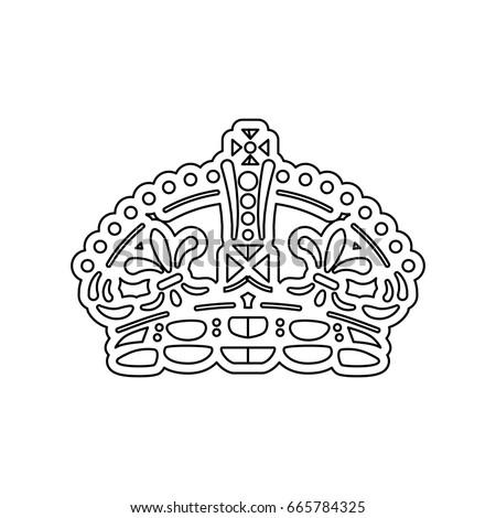 Queen Crown Symbol Stock Vector 665784325 Shutterstock