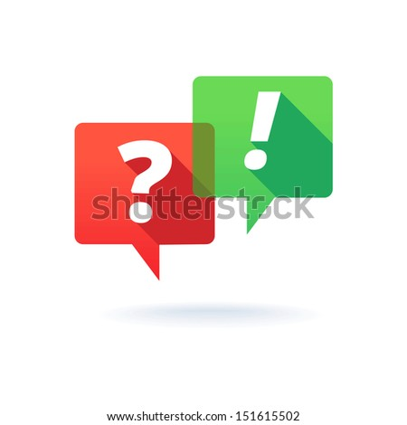 question and answer  - stock vector