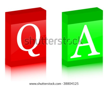 question and answer boxes