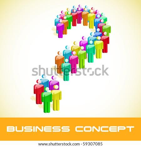 Question concept. Vector illustration. - stock vector