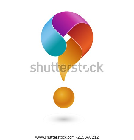 Question mark icon, eps10 vector - stock vector