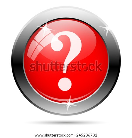 Question mark icon. Internet button on white background.  - stock vector