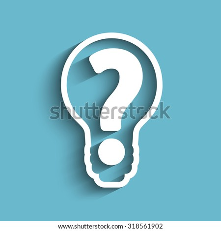 question mark in bulb stock vector - stock vector