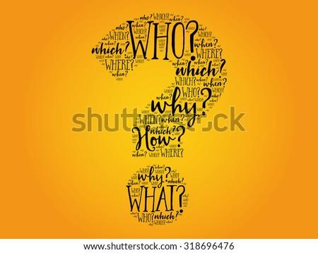 Question mark, Question words vector concept - stock vector