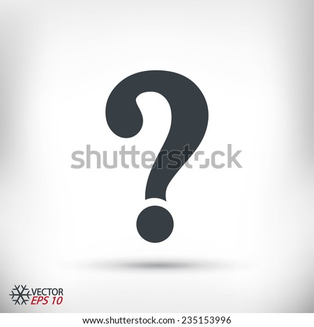 Question mark sign icon, vector illustration. Flat design style  - stock vector