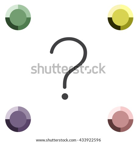 Question mark sign line  vector icon. Help sign vector icon. Support symbol.