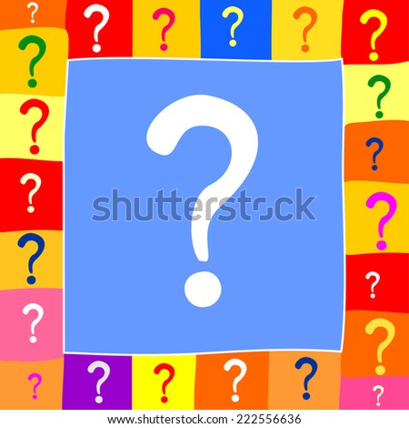Question mark. Vector Illustration - stock vector