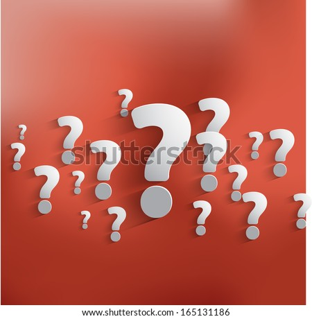 Question mark web icon background. - stock vector