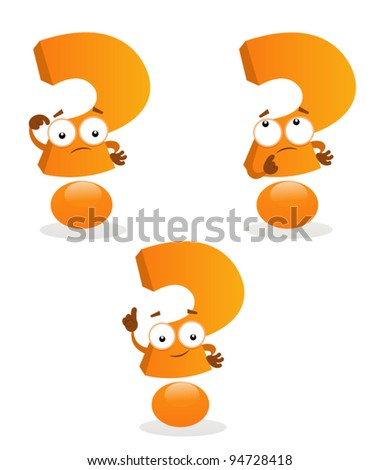 Question Marks - stock vector