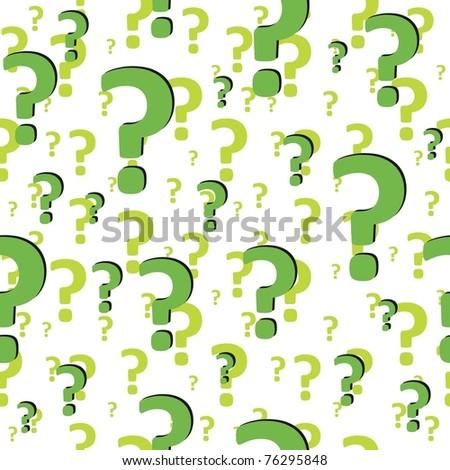 Question sign. Art 3d illustration - stock vector