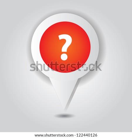 Question symbol,point area,Vector - stock vector