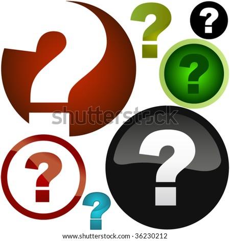Question vector elements. - stock vector