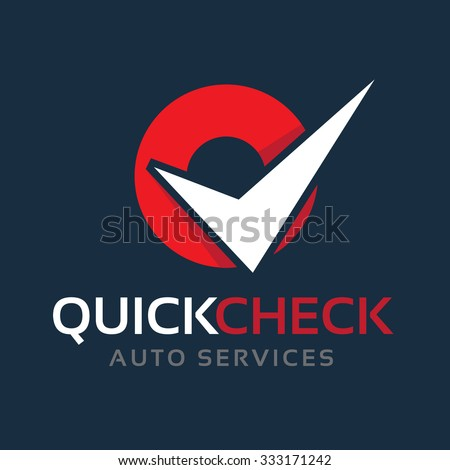 Quick Check,automotive logo,auto logo,vector logo template - stock vector