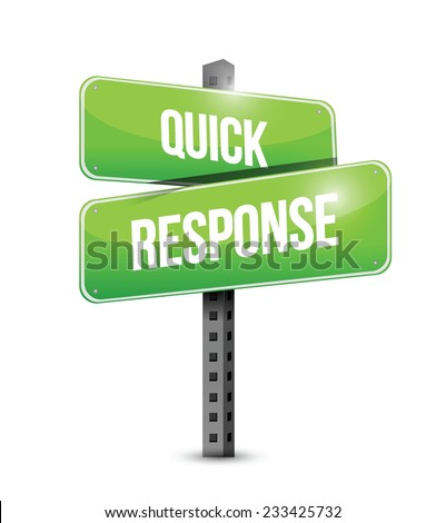 quick response sign illustration design over a white background - stock vector