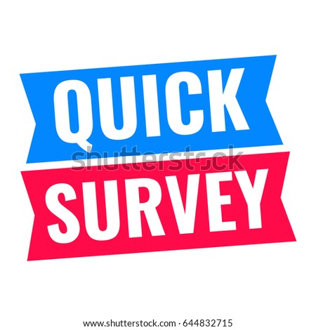 quick survey flat vector illustration on stock vector royalty free