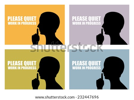 Quiet icon - stock vector