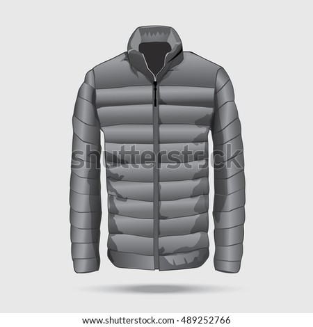 Puffer Bomber Jacket Template Zipper Vector Stock Vector 516234697 ...